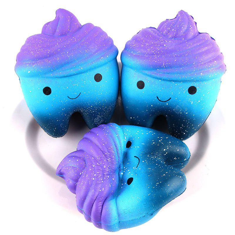 Jumbo Squishy Stress Relief Tooth PU Toy Decoration 1pc