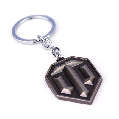 Popular Game Tank Logo Key Ring for Decoration