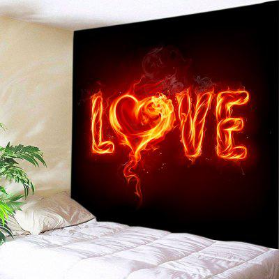 Dia dos Namorados Burning Love Print Tapestry Wall Decoration