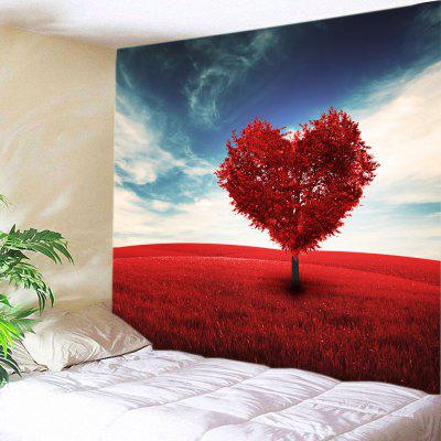 Heart Tree Print Tapestry Valentine's Day Wall Decoration