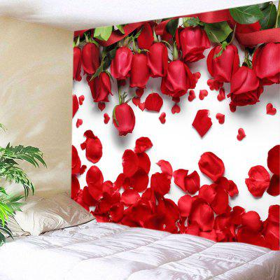 Roses Petals Print Tapestry Valentine's Day Wall Decoration