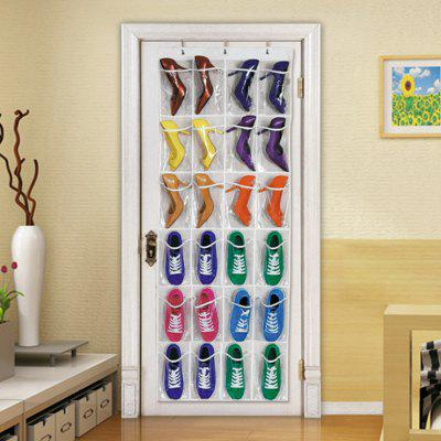 24 Pocket Hook Door Non-woven Shoes Storage Bag