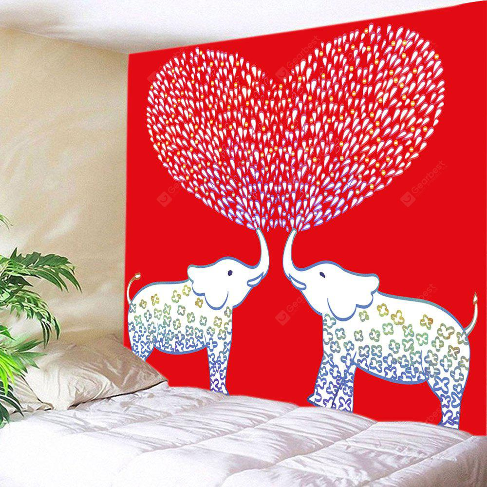 Elephant Lover Pattern Tapestry Valentine's Day Wall Decoration