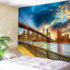 River In City Stampa Tapestry Wall Hanging Art - COLORI MISTI