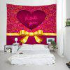 Mandala Heart Print Tapestry Valentine's Day Wall Decoration - COLORMIX