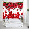 Roses Petals Print Tapestry Valentine's Day Wall Decoration - RED