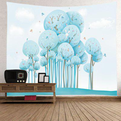 Cartoon Forest Animals Print Tapestry Wall Hanging DecorationBlanksts&amp; Throws<br>Cartoon Forest Animals Print Tapestry Wall Hanging Decoration<br><br>Feature: Washable<br>Material: Polyester<br>Package Contents: 1 x Tapestry<br>Shape/Pattern: Cartoon,Plant<br>Style: Natural<br>Weight: 0.4000kg