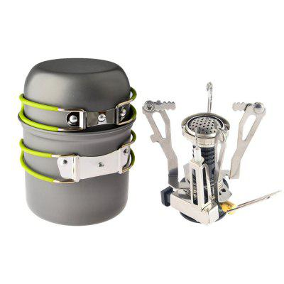 Mini Outdoor Portable Electronic Stove with Two Pots