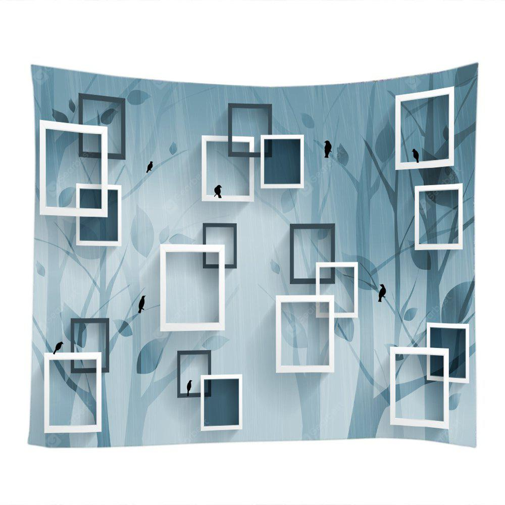 Geometric Space Square Frame Wall Decoration Tapestry