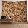 Tree Grain Print Tapestry Wall Hanging Decoration - WOOD
