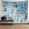Geometric Space Square Frame Wall Decoration Tapestry - STONE BLUE