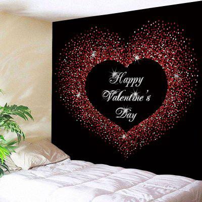 Valentine's Day Greeting Love Heart Printed Wall Hanging Tapestry