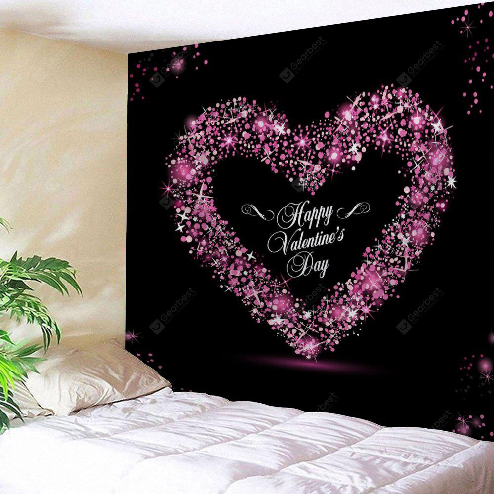 Valentine's Day Heart Print Tapestry Wall Hanging Art Decoration