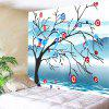 Birds On Floral Tree Print Tapestry Wall Hanging Decoration - COLORMIX