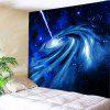 Milky Way Print Tapestry Wall Hanging Decoration - BLUE