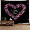 Valentine's Day Heart Print Tapestry Wall Hanging Art Decoration - COLORMIX