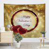 Happy Valentine's Day Print Tapestry Wall Hanging Decor - COLORMIX