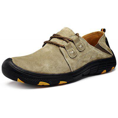 Buy KHAKI 39 Men Outdoor Lace Up Anti-slip Hiking Shoes for $27.78 in GearBest store