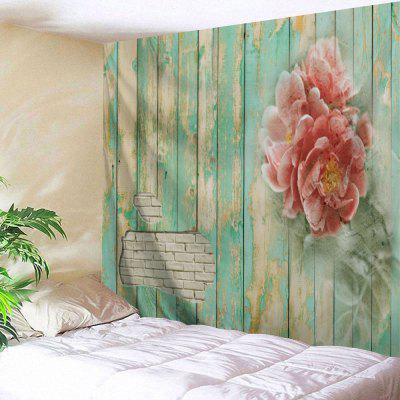 Flowers Wooden Board Print Hanging Decor Tapestry