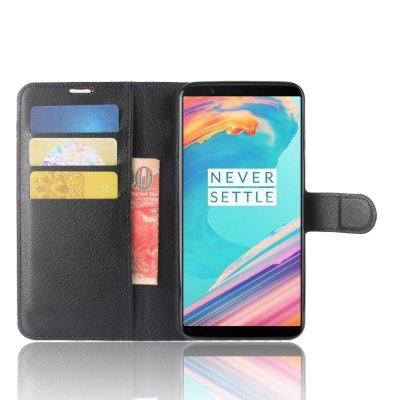 Luanke Premium PU Leather + TPU Flip Cover for OnePlus 5T