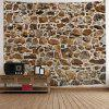 Stones Wall Print Hanging Art Tapestry - BROWN