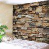 Stones Brick Wall Pattern Tapestry Wall Hanging - LIGHT BROWN