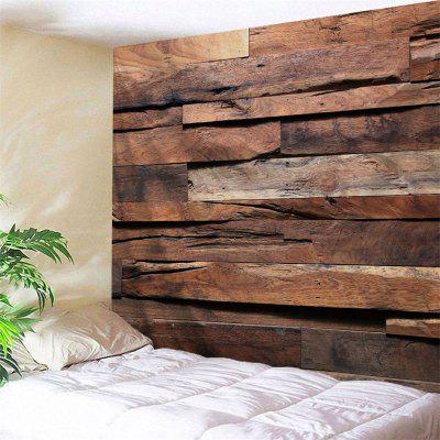 Retro Wood Plank Printed Bedroom Tapestry