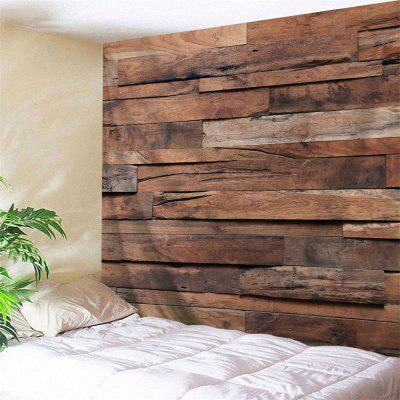 Retro Holz Plank Muster Wand Dekor Tapisserie