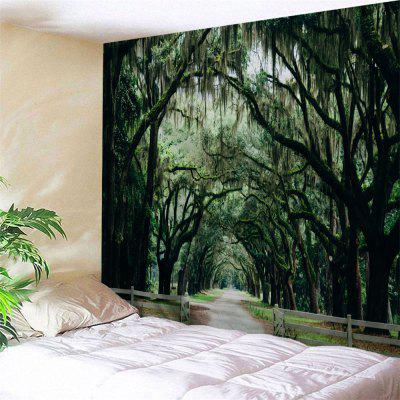 Forest Country Road Print Wall Art Tapestry