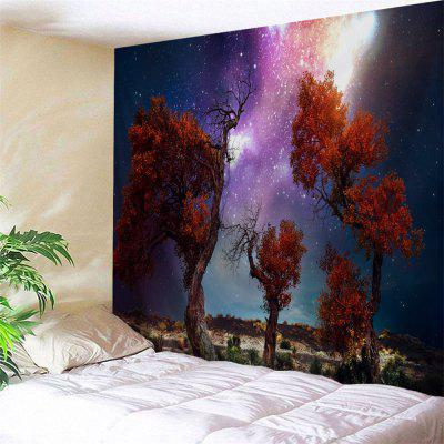 Star Sky Trees Wilderness Print Wall Hanging Tapestry