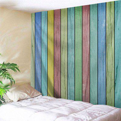 Colorful Wooden Board Print Tapestry Wall Hanging