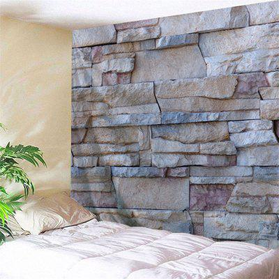 Wall Hanging Uneven Stone Wall Print Tapestry