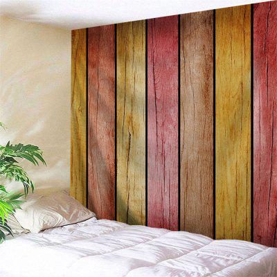 Buy COLORMIX Rainbow Wood Board Printed Home Decor Wall Hanging Tapestry for $11.37 in GearBest store