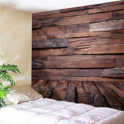 Irregular Wood Board Printed Wall Art Hanging Tapestry