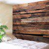 Retro Wood Plank Printed Bedroom Tapestry - WOOD COLOR