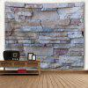 Wall Hanging Uneven Stone Wall Print Tapestry GRAY