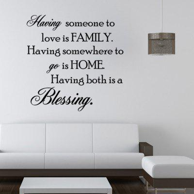 Waterproof PVC Inspiring Words Decorative Wall Sticker