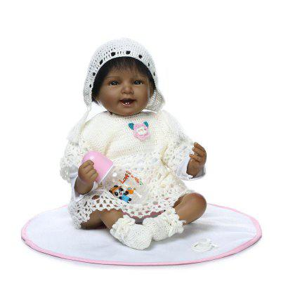 Simulation Soft Silicone Black Skin Baby Doll Toy Gift