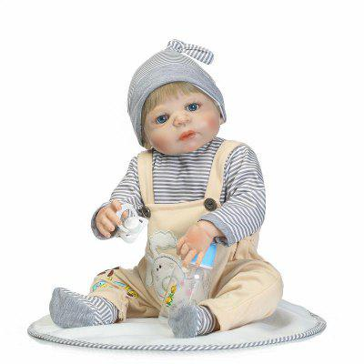 Full Silicone Emulate Reborn Baby Doll Kids Toy GiftStuffed Cartoon Toys<br>Full Silicone Emulate Reborn Baby Doll Kids Toy Gift<br><br>Features: Sleep Helping, Soft, Stuffed and Plush<br>Materials: Cloth, Silica Gel<br>Package Contents: 1 x Baby Doll, 1 x Mat, 1 x Bottle, 1 x Nipple<br>Package size: 55.00 x 22.50 x 15.00 cm / 21.65 x 8.86 x 5.91 inches<br>Package weight: 1.9000 kg<br>Product size: 55.00 x 25.50 x 5.50 cm / 21.65 x 10.04 x 2.17 inches<br>Product weight: 1.6000 kg<br>Series: Reborn Doll<br>Theme: Baby Doll