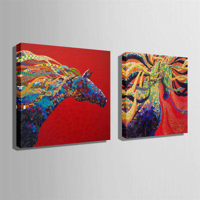 Unique Horse Design Print 2pcsPrints<br>Unique Horse Design Print 2pcs<br><br>Craft: Print<br>Form: Two Panels<br>Material: Canvas<br>Package Contents: 2 x Print<br>Package size (L x W x H): 62.00 x 5.00 x 5.00 cm / 24.41 x 1.97 x 1.97 inches<br>Package weight: 1.8000 kg<br>Painting: Without Inner Frame<br>Product size (L x W x H): 60.00 x 60.00 x 0.20 cm / 23.62 x 23.62 x 0.08 inches<br>Product weight: 1.6000 kg<br>Shape: Square<br>Style: Amazing, Animal<br>Subjects: Animal<br>Suitable Space: Bedroom,Cafes,Corridor,Dining Room,Game Room,Hallway,Kids Room,Living Room,Study Room / Office