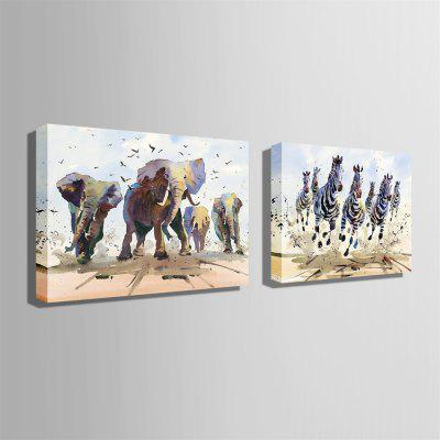 Running Animals Design Print 2pcsPrints<br>Running Animals Design Print 2pcs<br><br>Craft: Print<br>Form: Two Panels<br>Material: Canvas<br>Package Contents: 2 x Print<br>Package size (L x W x H): 30.00 x 5.00 x 5.00 cm / 11.81 x 1.97 x 1.97 inches<br>Package weight: 0.9000 kg<br>Painting: Without Inner Frame<br>Product size (L x W x H): 40.00 x 28.00 x 0.20 cm / 15.75 x 11.02 x 0.08 inches<br>Product weight: 0.7000 kg<br>Shape: Horizontal<br>Style: Animal, Modern<br>Subjects: Animal<br>Suitable Space: Bedroom,Cafes,Dining Room,Game Room,Hotel,Kids Room,Living Room,Study Room / Office