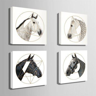 Unique Horses Design Print 4pcsPrints<br>Unique Horses Design Print 4pcs<br><br>Craft: Print<br>Form: Four Panels<br>Material: Canvas<br>Package Contents: 4 x Print<br>Package size (L x W x H): 32.00 x 5.00 x 5.00 cm / 12.6 x 1.97 x 1.97 inches<br>Package weight: 2.0000 kg<br>Painting: Without Inner Frame<br>Product size (L x W x H): 30.00 x 30.00 x 0.20 cm / 11.81 x 11.81 x 0.08 inches<br>Product weight: 1.8000 kg<br>Shape: Square<br>Style: Animal, Modern<br>Subjects: Animal<br>Suitable Space: Bedroom,Cafes,Dining Room,Game Room,Hotel,Kids Room,Living Room,Study Room / Office