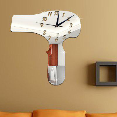 DIY Mirror Surface Wall Clock Home Living Room Decoration