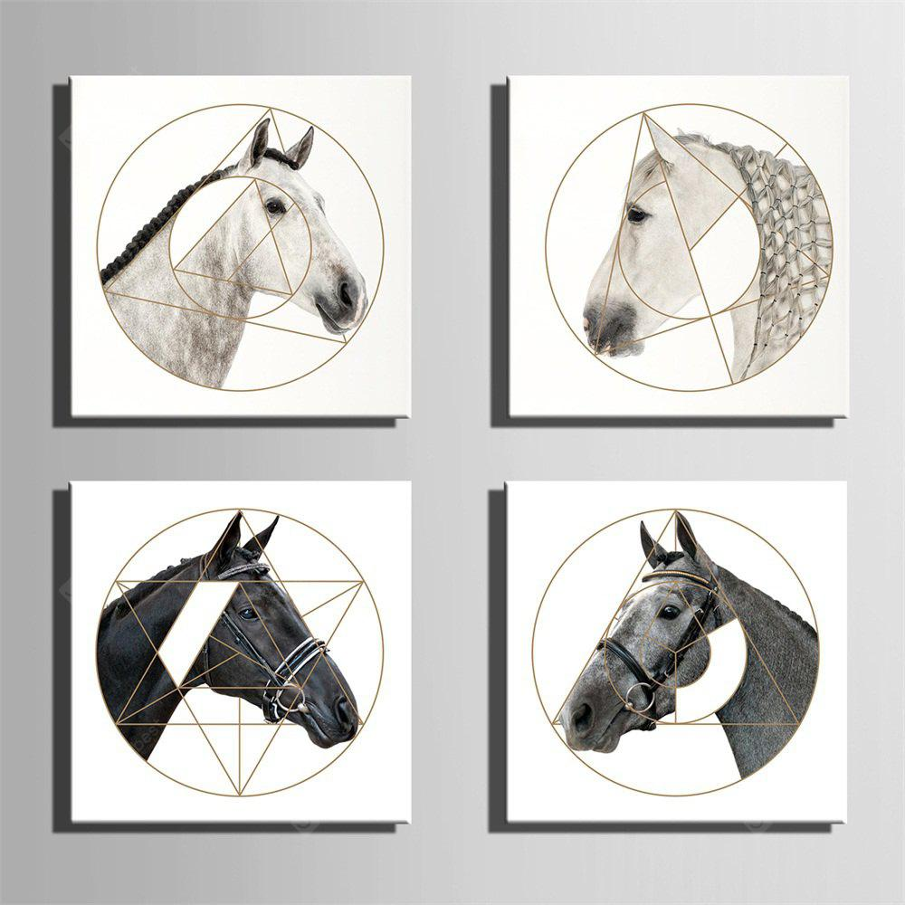 Unique Horses Design Print 4pcs