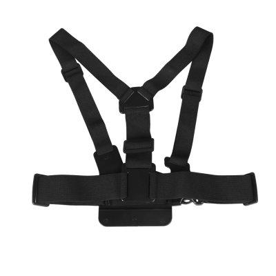 Chest Strap Action Camera Mount for GoPro / SJCAM / YIAction Cameras &amp; Sport DV Accessories<br>Chest Strap Action Camera Mount for GoPro / SJCAM / YI<br><br>Accessory type: Chest Straps<br>Apply to Brand: Gopro,SJCAM,YI<br>Package Contents: 1 x Chest Strap, 1 x Thumbscrew, 1 x J-hook Fast-release Buckle Mount<br>Package size (L x W x H): 24.50 x 16.00 x 5.00 cm / 9.65 x 6.3 x 1.97 inches<br>Package weight: 0.1700 kg<br>Product size (L x W x H): 20.00 x 15.00 x 3.00 cm / 7.87 x 5.91 x 1.18 inches<br>Product weight: 0.1630 kg