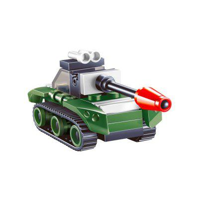 Mini Tank Model Building BlocksBlock Toys<br>Mini Tank Model Building Blocks<br><br>Gender: Unisex<br>Materials: ABS<br>Package Contents: 1 x Set of Building Blocks<br>Package size: 7.00 x 4.50 x 7.00 cm / 2.76 x 1.77 x 2.76 inches<br>Package weight: 0.0300 kg<br>Product size: 7.50 x 3.00 x 3.80 cm / 2.95 x 1.18 x 1.5 inches<br>Product weight: 0.0200 kg<br>Suitable Age: Kid<br>Theme: Other<br>Type: Building