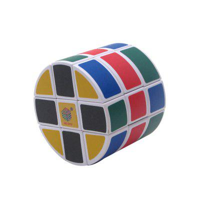 QiYi Heshu 3 x 3 Round Speed Smooth Magic Cube for Kids mf8 diy teraminx magic cube speed puzzle cubes toys for kids black