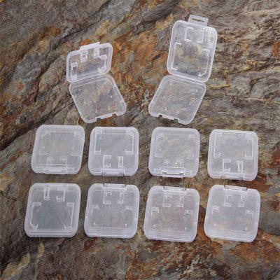 Transparent Standard SD SDHC Memory Card Case 10pcs