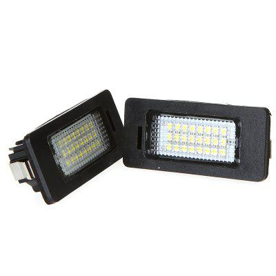 Pair of 24 LEDs SMD3528 LED License Plate Lights for BMW 2pcs car led license plate lights 12v white smd3528 led number plate lamp bulb kit for ford focus c max 03 07