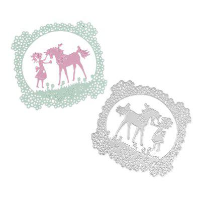 Girl Unicorn Design Metal Cutting Dies for Greeting Card Cover Photo Album creative gifts 3d pop up card greeting